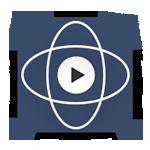 botón azul con el símbolo de 360 en su interior y el botón play, sirve para dar inicio al recorrido virtual