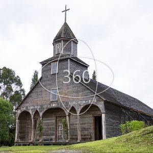 fotografía a color del frente de la Iglesia de Ichuac